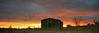 Cabin at sunset.