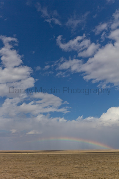Afternoon Rainbow<br /> Comanche National Grassland, Otero County, Colorado.