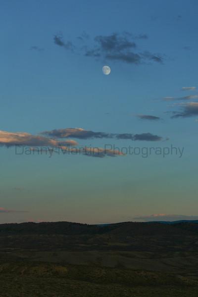 Moonrise over Sage.<br /> Moffat County, Colorado.