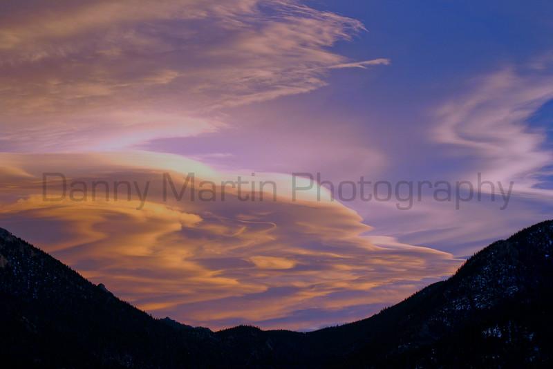 Sunset over the Rockies.  Estes Park, Colorado.