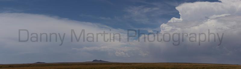 Clouds building over Kiowa National Grassland<br /> New Mexico