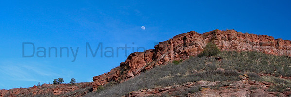 Moonrise over Bobcat Ridge Natural Area, Larimer County, Colorado.