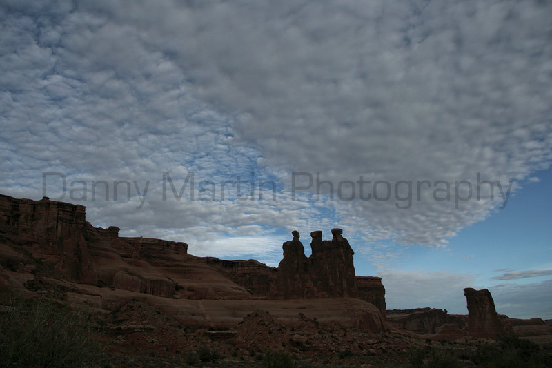 Three Sisters.  Arches National Park, UT.