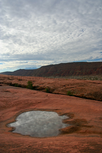 Reflection. <br /> Canyonlands National Park / Island in the Sky, Utah