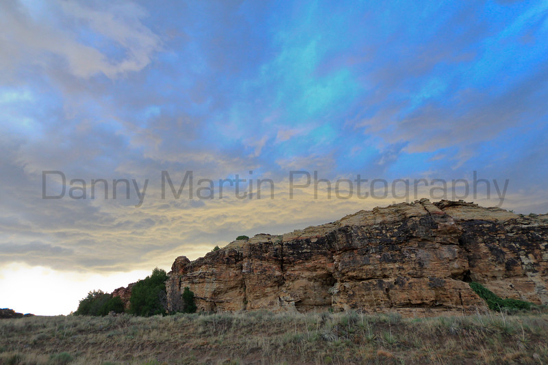 Morning clouds over Picture Canyon<br /> Comanche National Grassland, Colorado.