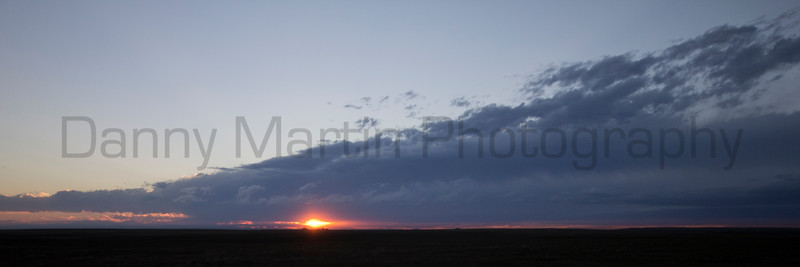 Clouds at sunset <br /> Weld County, Colorado.