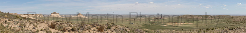 Pawnee Buttes (stitched panorama)<br /> Pawnee National Grassland, Colorado.
