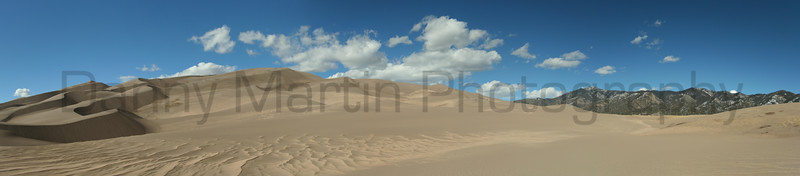 Great Sand Dunes and the Sangre de Cristo Mountains<br /> San Luis Valley, Colorado.<br /> *(stitched panorama)