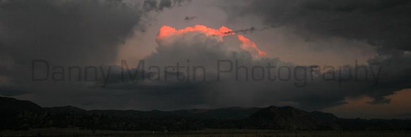 Last warmth in the clouds.<br /> Buena Vista, Colorado.