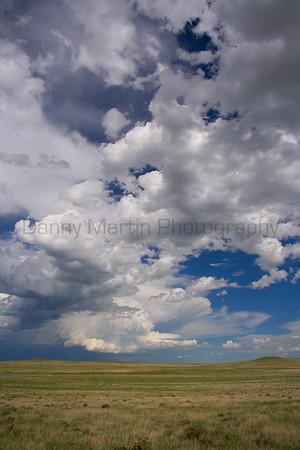 Rain up North.<br /> Pawnee National Grassland, Weld County, Colorado.