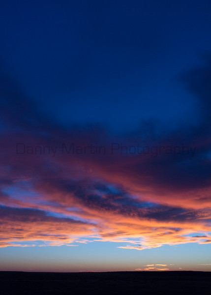 Sunrise over Comanche National Grassland<br /> Otero County, Colorado.