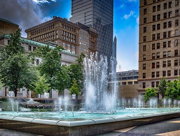 Fountain in Mellon Square Park