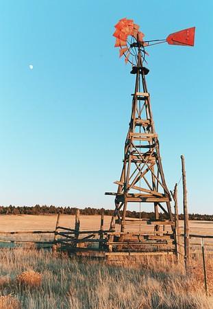 Morning Moon & Windmill