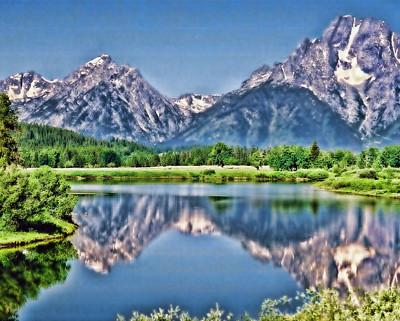 Grand Teton National Park, Wyoming, Enhanced