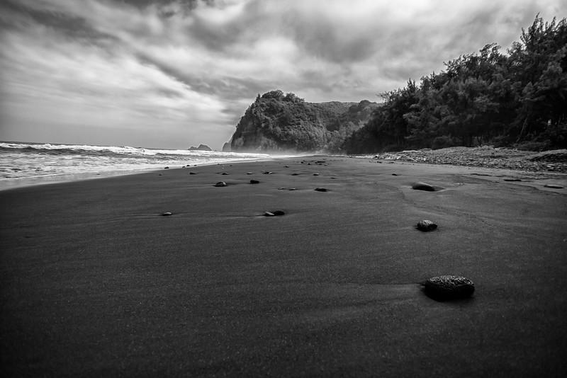 Pololu Valley Black Sand Beach #4