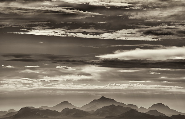 Clouds and Mountains, Tucson, Arizona, 2012
