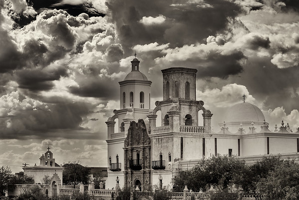 Clouds, Mission San Xavier del Bac, Tucson, Arizona, 2012