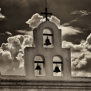 Cross and Bells, Mission San Xavier del Bac, Tucson, Arizona, 2012