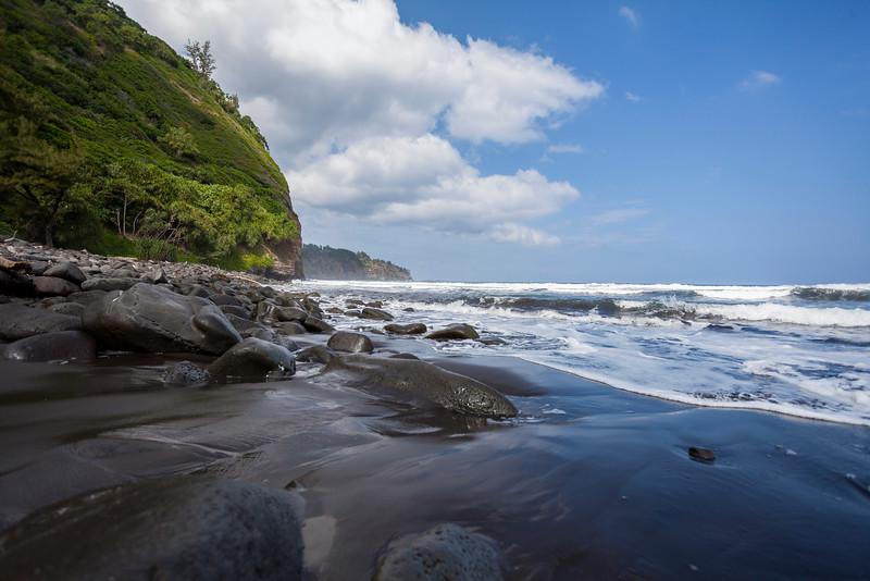 Pololu Valley Black Sand Beach #3