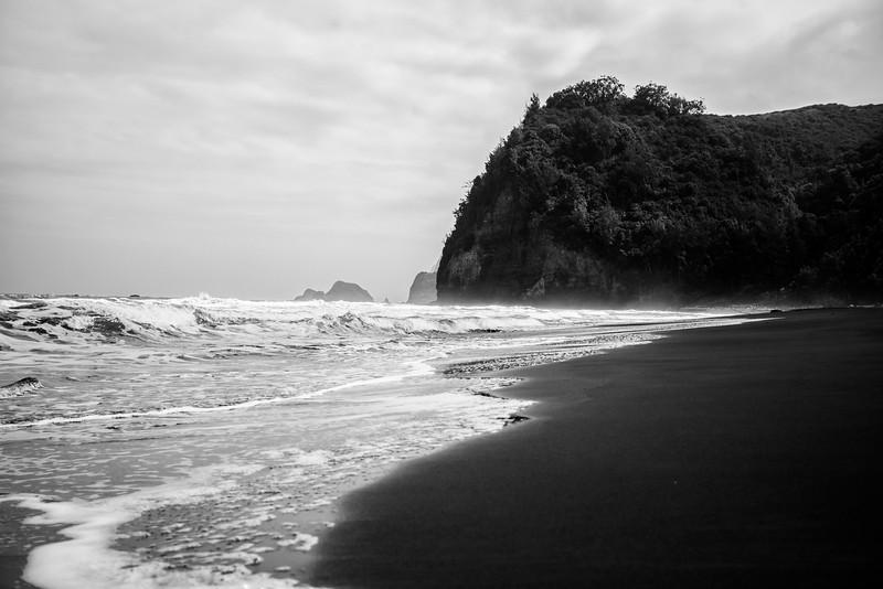 Pololu Valley Black Sand Beach #1