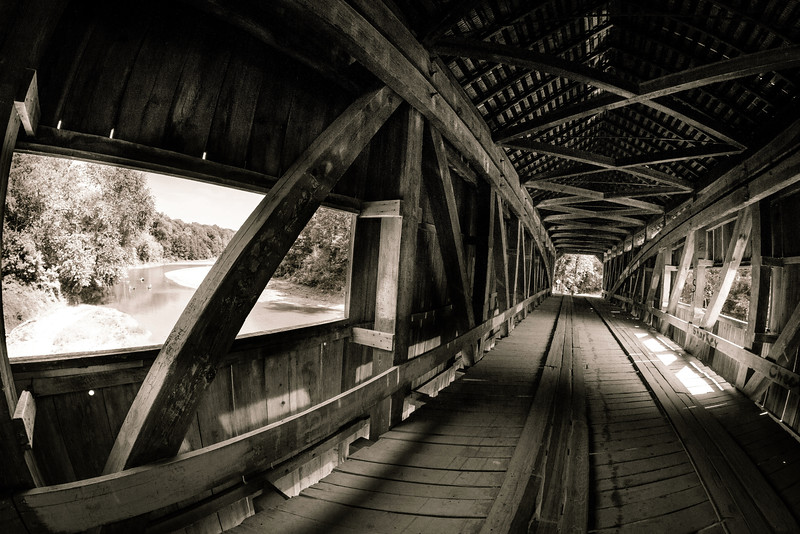Inside Cox Ford Covered Bridge - Turkey Run