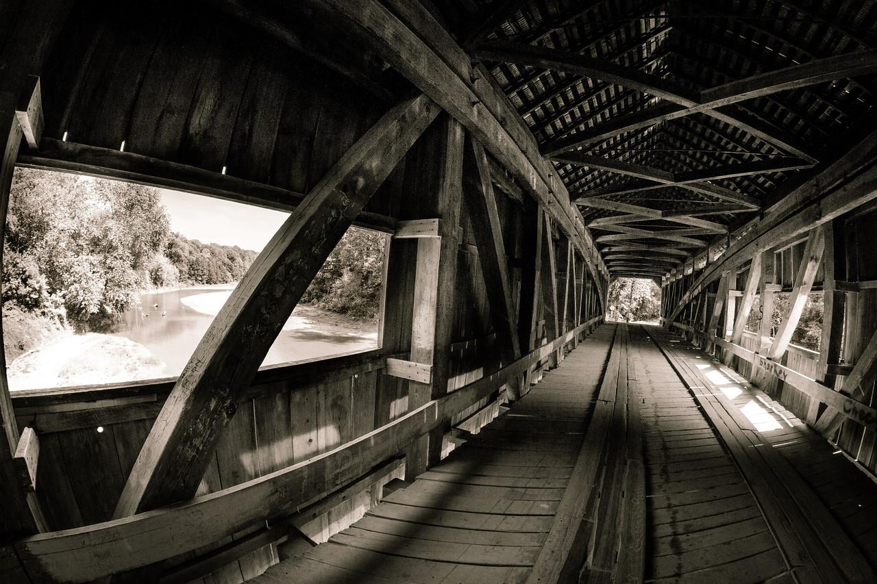 Inside Cox Ford Covered Bridge - Turkey Run