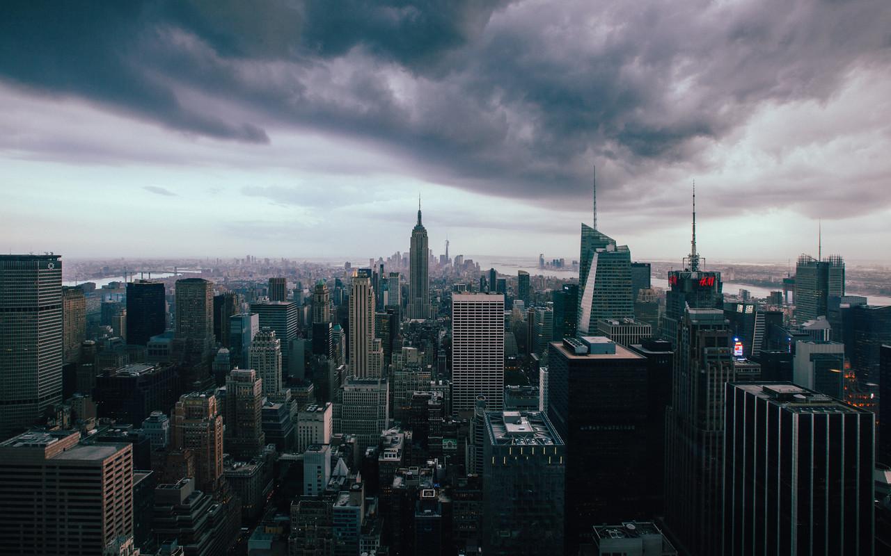 Downpour in Manhattan