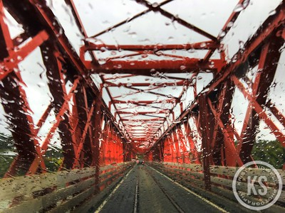 Rainy View on a Bridge in Gladstone, New Zealand