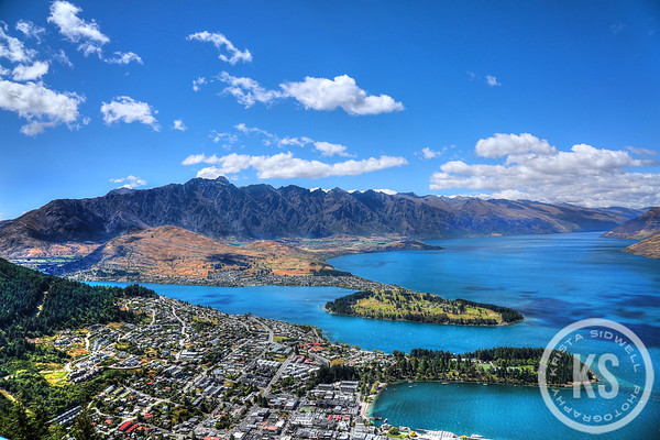 Queenstown,  New Zealand and Lake Wakatipu