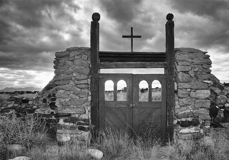 Galisteo Cemetery Gate.