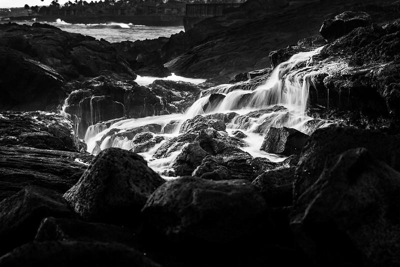 Slow Shutter Waves Crashing on Lava Rock #2