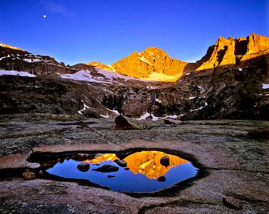 McHenry Peak  Alpenglow RMNP