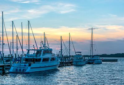 Panama City Marina at sunset
