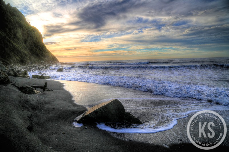 Okarito Beach at Sunset in New Zealand