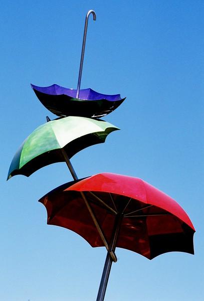 Umbrellas.