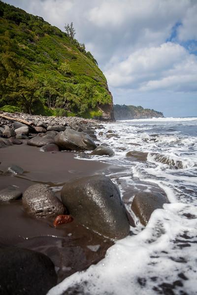 Pololu Valley Black Sand Beach #2