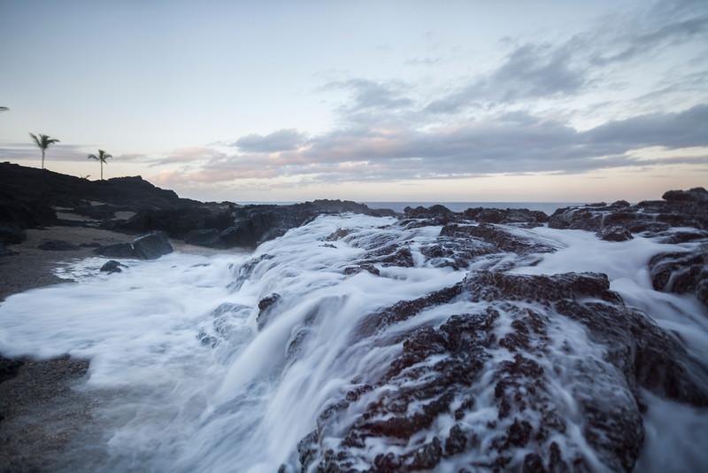 Slow Shutter Waves Crashing on Lava Rock