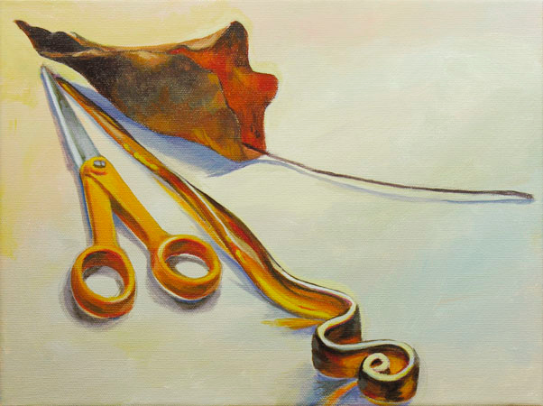 """""""Three Pointy Things"""" (acrylic on canvas 9""""x12"""")"""