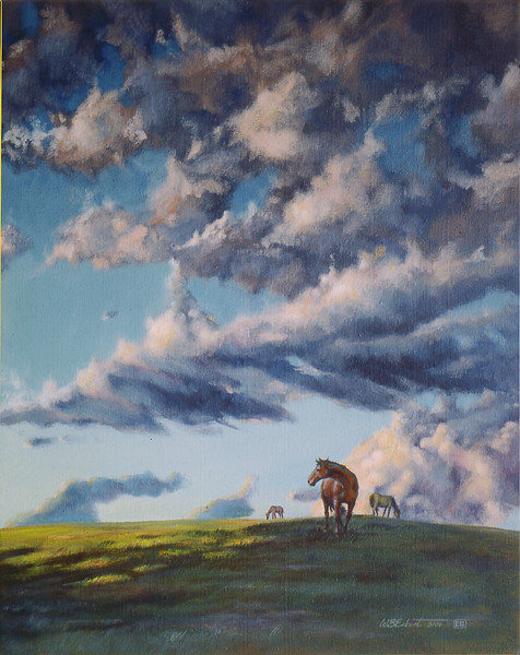"""After the Rain"" (Acrylic on canvas, 24""x30"" SOLD)"
