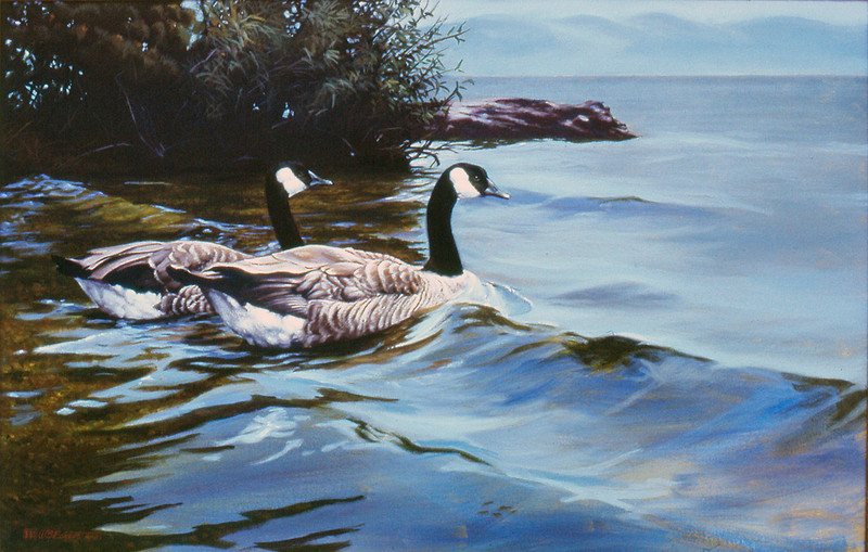 """""""Leaving the Cove"""" Original painting by WB Eckert, acrylic on canvas, collection of V. Wright"""