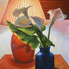"""Backlit Lilies: Still Life"" (acrylic on canvas, private collection)"