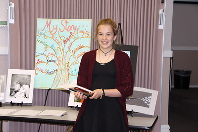 "Madeline Hezel (ORMS) Award of Merit for Middle School Literature, ""Just Me""; in the 2017 PTA Reflections Contest."
