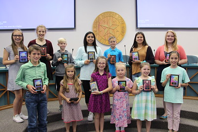 The 2017 PTA Reflections Contest State Qualifiers and State Winners being honored at the May 4, 2017, PTA luncheon at NBISD.
