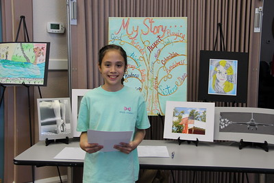 Danyella Carrellie (County Line ES), Award of Excellence for Intermediate Visuals Arts Award in the 2017 PTA Reflections Contest.