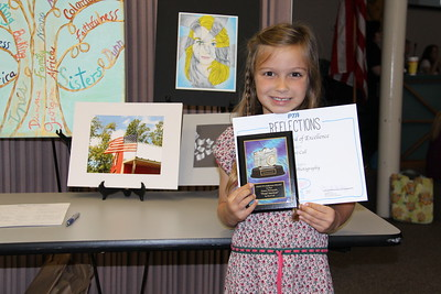 Perri S. Call (Klein Road ES), Award of Excellence for Elementary Photography in the 2017 PTA Reflections Contest.