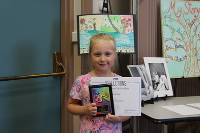 Molly Clark (Walnut Springs ES), Overall Award of Excellence in Elementary Visual Arts recipient  in the 2017 PTA Reflections Contest.