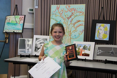 Olivia Loeffler (Walnut Springs ES), Overall Award of Excellence for Elementary Literature, in the 2017 PTA Reflections Contest.