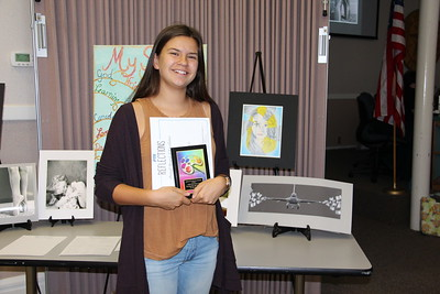 "Chloe Knight (ORMS), Award of Merit for Middle School Visual Arts, ""Steering the Life of Many"" in the 2017 PTA Reflections Contest."