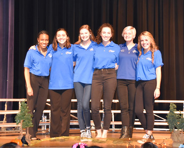NBHS Choir Members (from left to right) Maya Goodlow, Elise Johnson, Savanna Pack, Jensen Navarte, Navi Walker and Emma Thorington have been selected to perform with one of the Region Choirs on Nov. 11 at San Marcos High School.  (Photo by Choir Parent Lisa Williams)