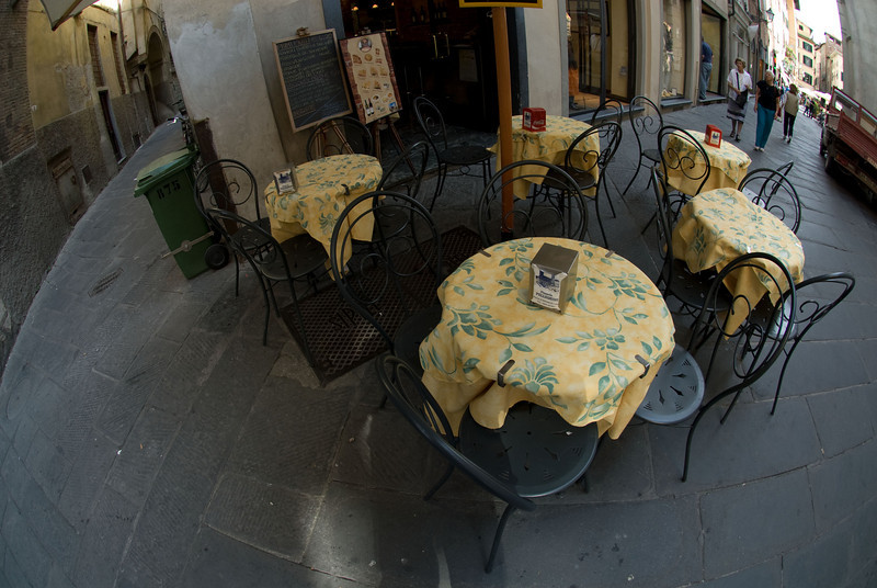 Tables, Lucca, Italy.
